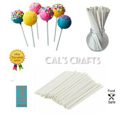£1.99 • Buy Paper Lollipop Cake Pop Sticks Lollies Crafts Lolly  89mm, 114mm, 152mm