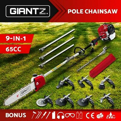 AU259.95 • Buy Giantz 65CC Pole Chainsaw Hedge Trimmer Brush Cutter Whipper Snipper Multi Tool