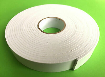 £3.45 • Buy Self Adhesive Strong Double Sided White Foam Sticky Tape Padded,mounting Diy Car