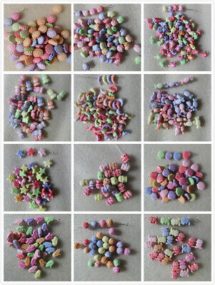 50 - 300 Multi-Coloured Acrylic Charms/Beads 18 Designs Jewellery & Craft Making • 1.99£