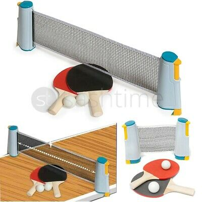 Table Tennis Game Instant Indoor Portable Travel Ping Pong Ball Set Extendable  • 11.95£