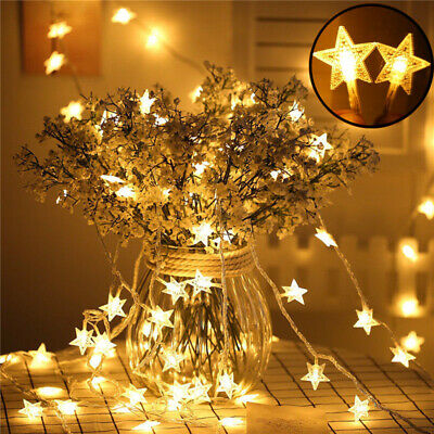 $9.44 • Buy LED Star String Lights Strip Battery Powered For Fairy Party Christmas Decor
