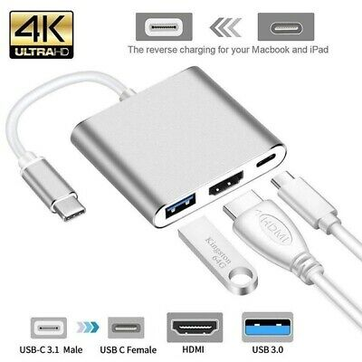 AU9.99 • Buy NEW* 3IN1 USB 3.1 Type-C USB-C To Female HUB 4K HDMI Data Charging Adapter Cable