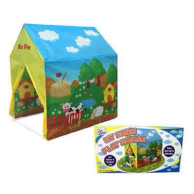 Animal Farm Yard Play House Tent Wendy House Den Summer Indoor Or Outdoor Use • 12.95£