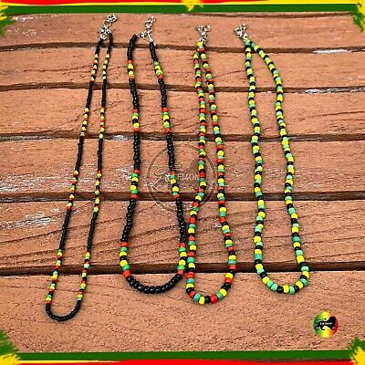 $11.99 • Buy Rasta Roots Irie Coco Beads One Love Jamaica Reggae Africa Roots Necklace 3MM