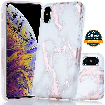 AU23.16 • Buy Cute Apple IPhone Case White Marble Lightweight Soft Rubber Silicone Pattern