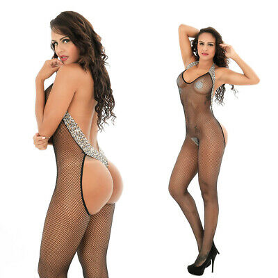 $9.66 • Buy Women Enjoy Fishnet Body Stockings Babydoll Sleepwear New Bodysuit Lingerie 6042