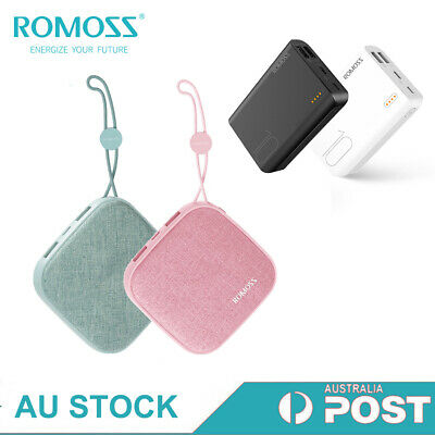 AU25.99 • Buy Romoss 10000mAh Charger Portable Power Bank 2*USB Quick Charge For Moible Phone