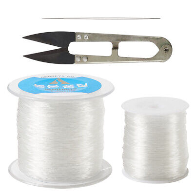 $ CDN17.88 • Buy 0.8mm & 1mm Clear Elastic Crystal Threads Cords With Scissors Beading Needles