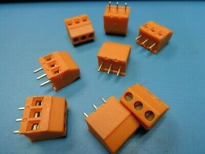 $8.99 • Buy (8) 048816 Weidmuller 0488160000 3 Pole Position Terminal Block 4881.6 Pcb T/h