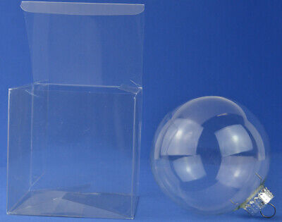 £10.67 • Buy 10 Acetate Cube Box Presentation Boxes For Gifts Or Baubles 12cm