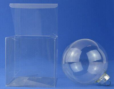 £7.88 • Buy 10 Acetate Cube Box Presentation Boxes For Gifts Or Baubles 10cm