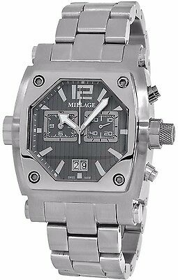 $1747.41 • Buy Millage Rogue Collection Ml-135020b26 Swiss Quartz Gray Face Chronogr Date Watch