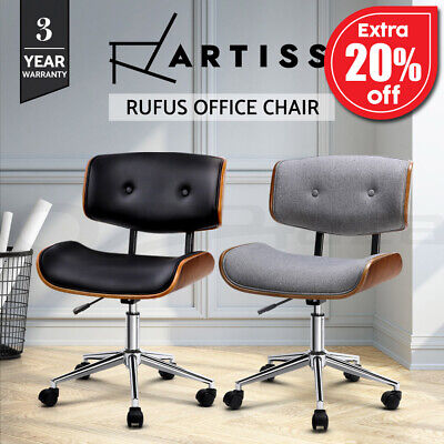 AU119.95 • Buy Artiss Office Chair Gaming Chair Wooden Computer Chairs Work Seat Vintage