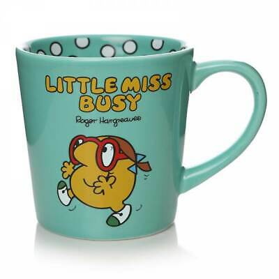 £11.95 • Buy Little Miss Mr Men Little Miss Busy Tapered Coffee Mug Cup New In Gift Box *