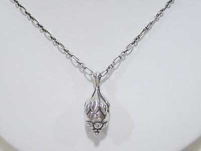 GEORG JENSEN Sterling Silver 1991 Year Of Pendant Necklace 18  • 217.50£