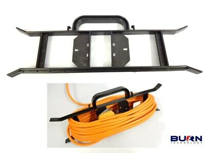 Cable Wire Tidy Reel- H Frame Extension Power Lead Carrier Holder Garden Camping • 5.49£
