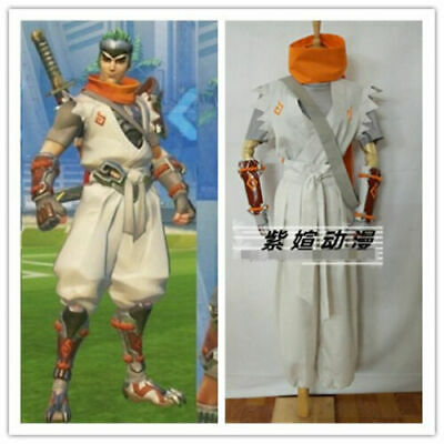 $ CDN101.94 • Buy Sparrow Young Genji Full Set White Suit Cosplay Costume &