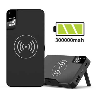 View Details Power Bank 300000mAh Qi Wireless Charging USB LCD Portable Battery Charger Pack • 22.99£