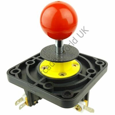 £11.99 • Buy Red Ball Top Leaf Switch Arcade Joystick With Non Clicking Microswitches