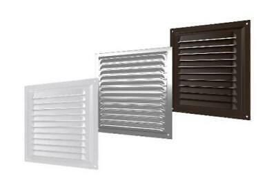 Metal Louvre Air Vent Fixed Bathroom Kitchen Ventilation Brick Grille Cover • 8.99£