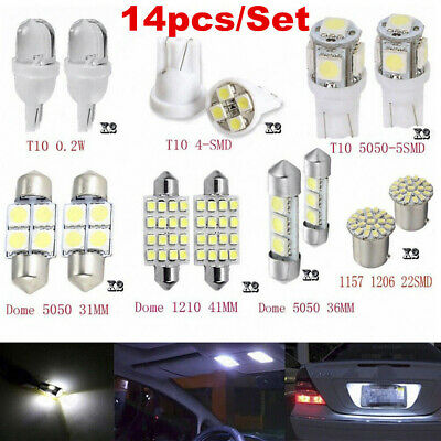 $2.68 • Buy 14Pcs LED Interior Package Kit For T10 36mm Map Dome License Plate Lights White