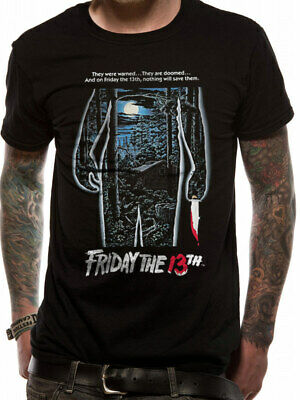 £11.99 • Buy Friday The 13th Movie Poster T Shirt Classic Horror Film OFFICIAL NEW SML XL XXL