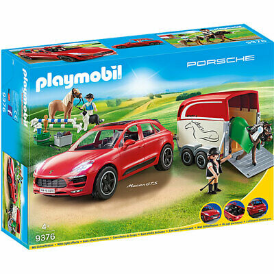 PLAYMOBIL 9376 Porsche Macan GTS With Horse Trailer And Retractable Winch • 44.95£