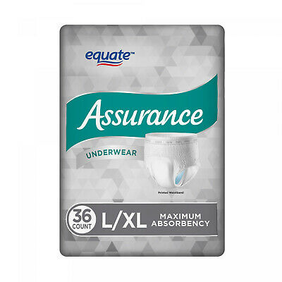 $27.32 • Buy Assurance Underwear Mens Size L/XL 36 Count Incontinence Diapers Max Absorbency