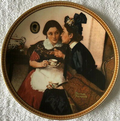 $ CDN33.84 • Buy Rockwell's Rediscovered Women Collection Gossiping In The Alcove 6th Plate