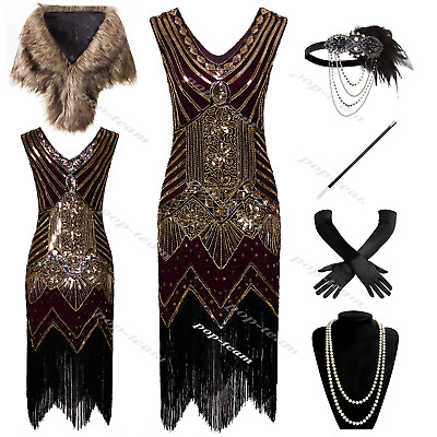 $43.99 • Buy Vintage 1920s Flapper Dress Gatsby 20s Party Prom Evening Cocktail Dress 6-20