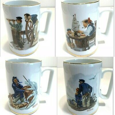 $ CDN103.53 • Buy Norman Rockwell  Museum Collection Of 7  Large Stein Mugs