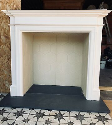 Oxford Aegean Limestone Fireplace Surround / Mantle With Granite Hearth Option • 546£