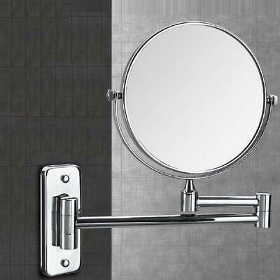 £18.99 • Buy 360° Wall Mounted 2 Side Magnifying Swivel Extendable Makeup Shaving Bath Mirror