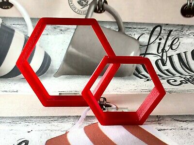 Hexagon Cookie Cutter Set, Play Dough, Fondant, Pastry, Biscuit, Cutter, UK • 3.49£