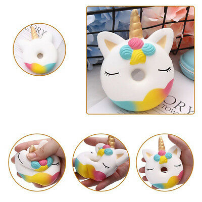 AU4.19 • Buy Squishies Unicorn Doughnut Slow Rising Squeeze Scented Stress Reliever Toy BM