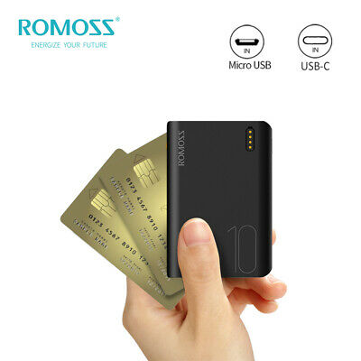 AU21.99 • Buy ROMOSS Power Bank 10000mAh Dual USB LED 2.1A Fast Portable Phone Battery Charger