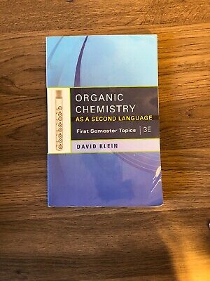 $19.87 • Buy First Semester Topics: Organic Chemistry As A Second Language : First...