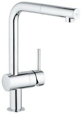 Grohe 32168000 Minta Single Lever Mono Sink Mixer High Swivel L Pull Out Spout  • 154.95£