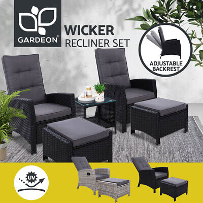AU299.90 • Buy 【EXTRA20%OFF】Gardeon Recliner Chairs Outdoor Sun Lounge Setting Patio Furniture