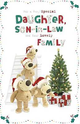 Boofle Daughter, Son-In-Law & Family Christmas Greeting Card Cute Xmas Cards • 4.29£