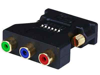 Monoprice DVI-I M To 3 RCA Component Adapter W/ DIP Switch For ATI Video Cards • 6.60$