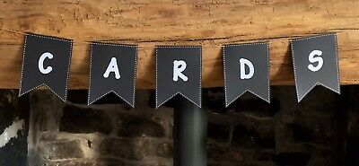 Vintage Style Handmade Personalised Card Bunting Wedding Birthday Party £1 Each • 1£