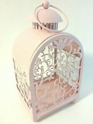 $24.99 • Buy IKEA Pink Filigree Hanging Lantern Glass Candle Holder For Indoor & Outdoor Use