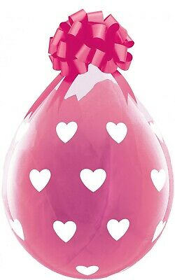 Qualatex 18  Clear Stuffing Balloons Big Hearts For Stuffing Machines • 4.99£