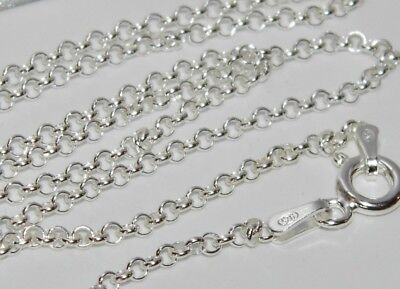 SOLID STERLING SILVER 925 20   BELCHER CHAIN 3.2g - Strong & Durable • 7.95£