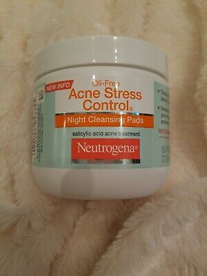 Neutrogena Oil-Free Acne Stress Control Night Cleansing Pads 60 Count  • 29.95$