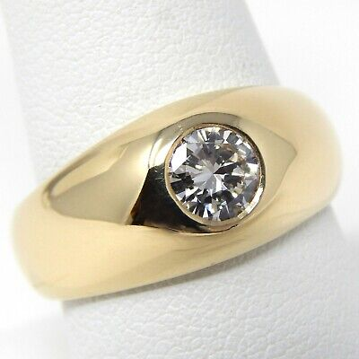$1744.20 • Buy 14 Kt Yellow Gold 6.2 Mm DIAMOND GYPSY STYLE Solitaire Ring Size 9 1/4 A7529
