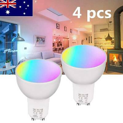 AU66.35 • Buy Smart WiFi Bulb Wireless Remote Compatible With Google Home Alexa Voice Control