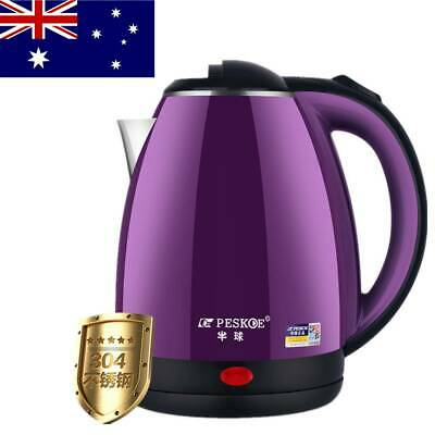 AU29.75 • Buy Electric Kettle Stainless Steel 1500W 2L Jug Kettle Fast Water Boil Home Boiler